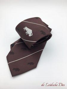 Bespoke club logo neckties, custom ties woven in your club colors in a custom tie design