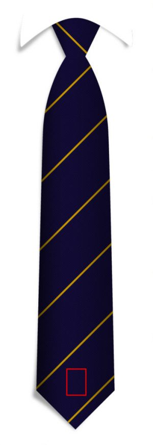 Custom woven promotional neckties with your logo at the tip, custom designed neckties