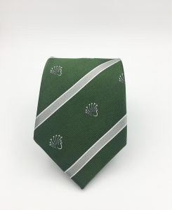 Custom woven club logo neckties, custom ties woven in your club colors in a personalized tie design