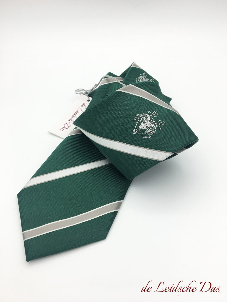 Bespoke striped ties in a customer-specific design, custom ties with a logo