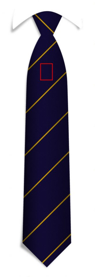 Bespoke striped ties with your logo under the knot, custom ties in a personalized design