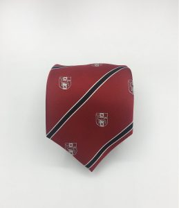 Personalized club logo neckties, custom ties woven in your club colors in a custom tie design