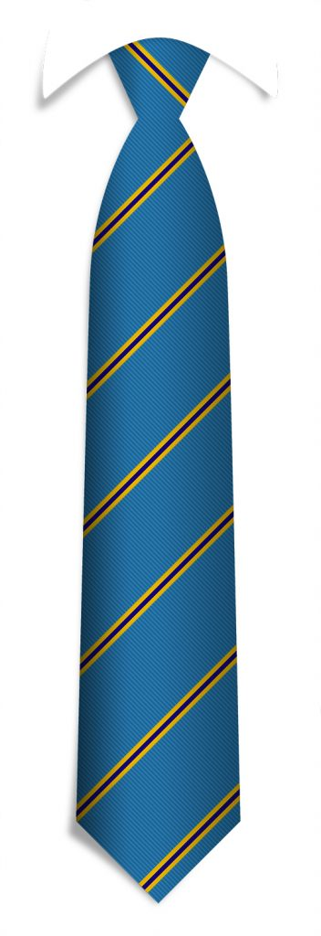 Striped pattern promotional neckties, custom designed neckties for organizations
