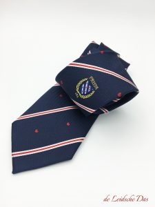 Tailor made club logo neckties, custom ties woven in your club colors in a custom tie design