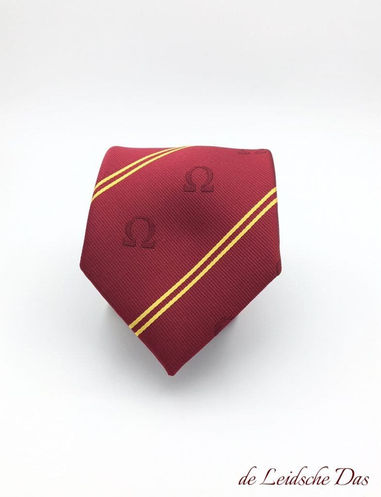 Tailor made logo ties, ties custom woven in your personalized tie design