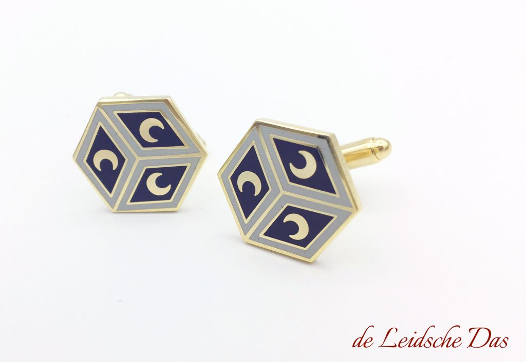 Bespoke cufflinks we made for italian museum shop, hexagonal mosaic tile floor duomo italy