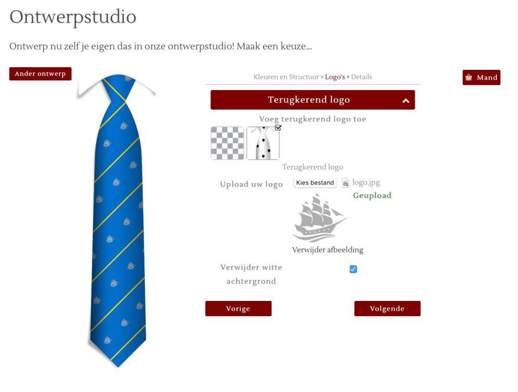 Custom necktie design options, custom necktie design for clubs or societies