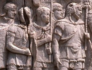 Origin of club neckwear, trajan's legionaries