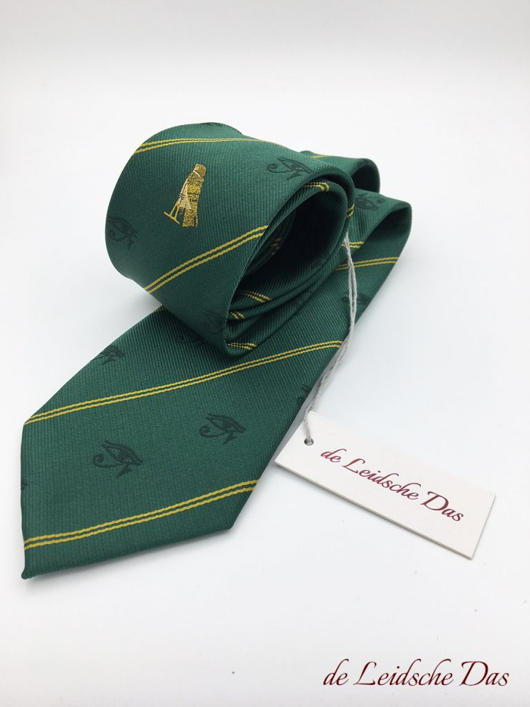 Tailor made club neckwear, custom woven fraternal ties in a custom made tie design