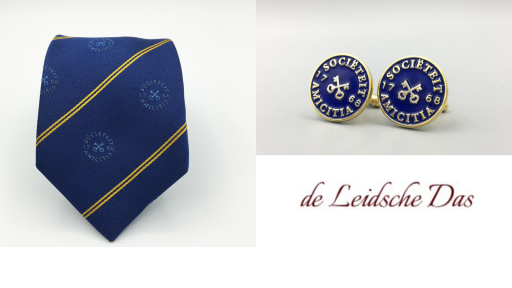 Association neckties and cufflinks with your brand logo made in your personalized design