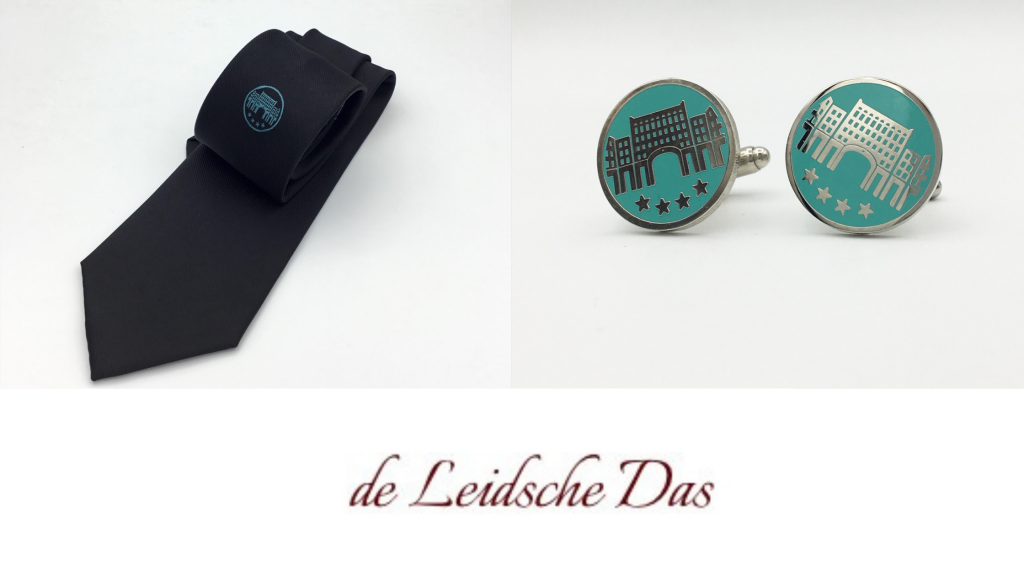 Company wear, cufflinks and neckties with your brand logo made in your personalized design
