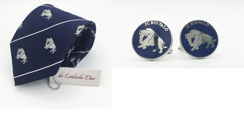 Neckties with matching cufflinks with your brand logo custom made in your personalized design