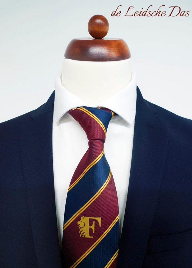 Microfiber ties, custom logo ties made-to-order in a personalized striped tie design