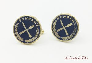 Cutlery cufflinks made in a custom design with knife and fork, cufflinks custom made for the hospitality sector