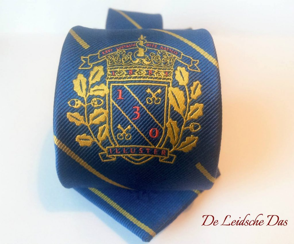 Club ties designed with club crest, custom (repp) woven club ties