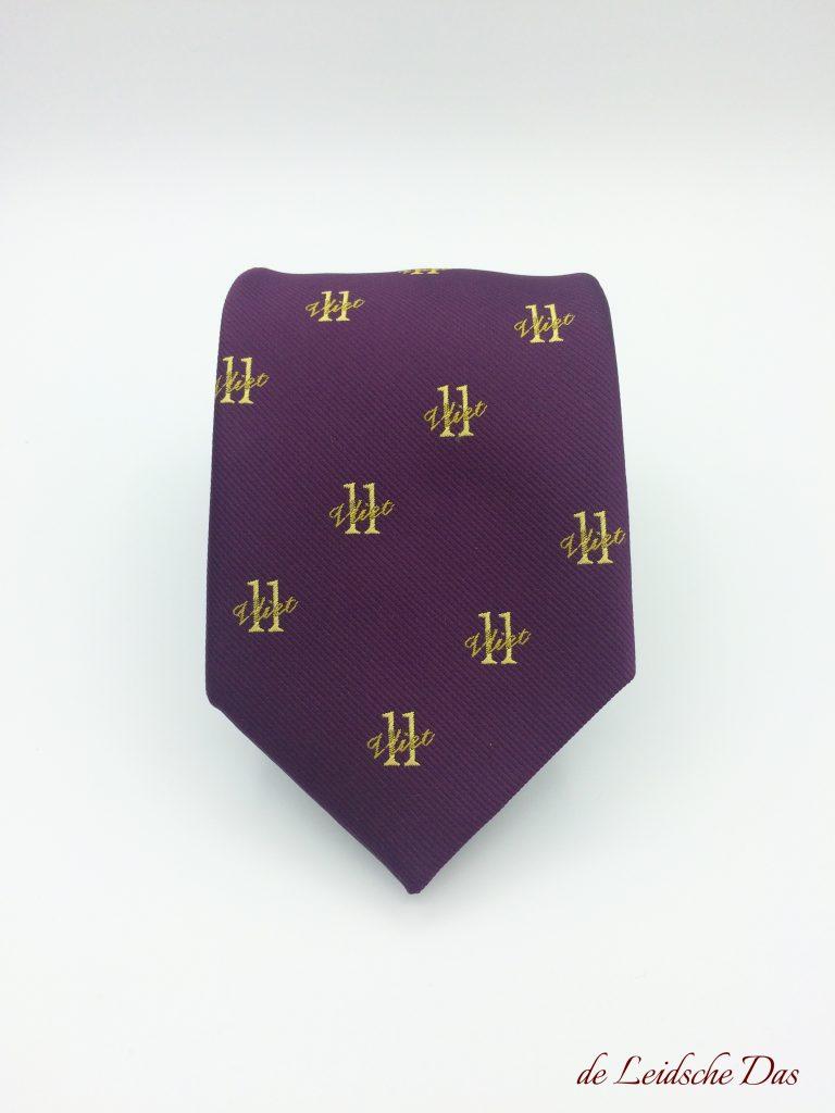 Manufacturer of custom neckties the Leidsche Das for your custom logo neckties woven in a custom necktie design